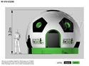 Picture of Bounce Soccer with roof 4 x 5 x 3,2 m